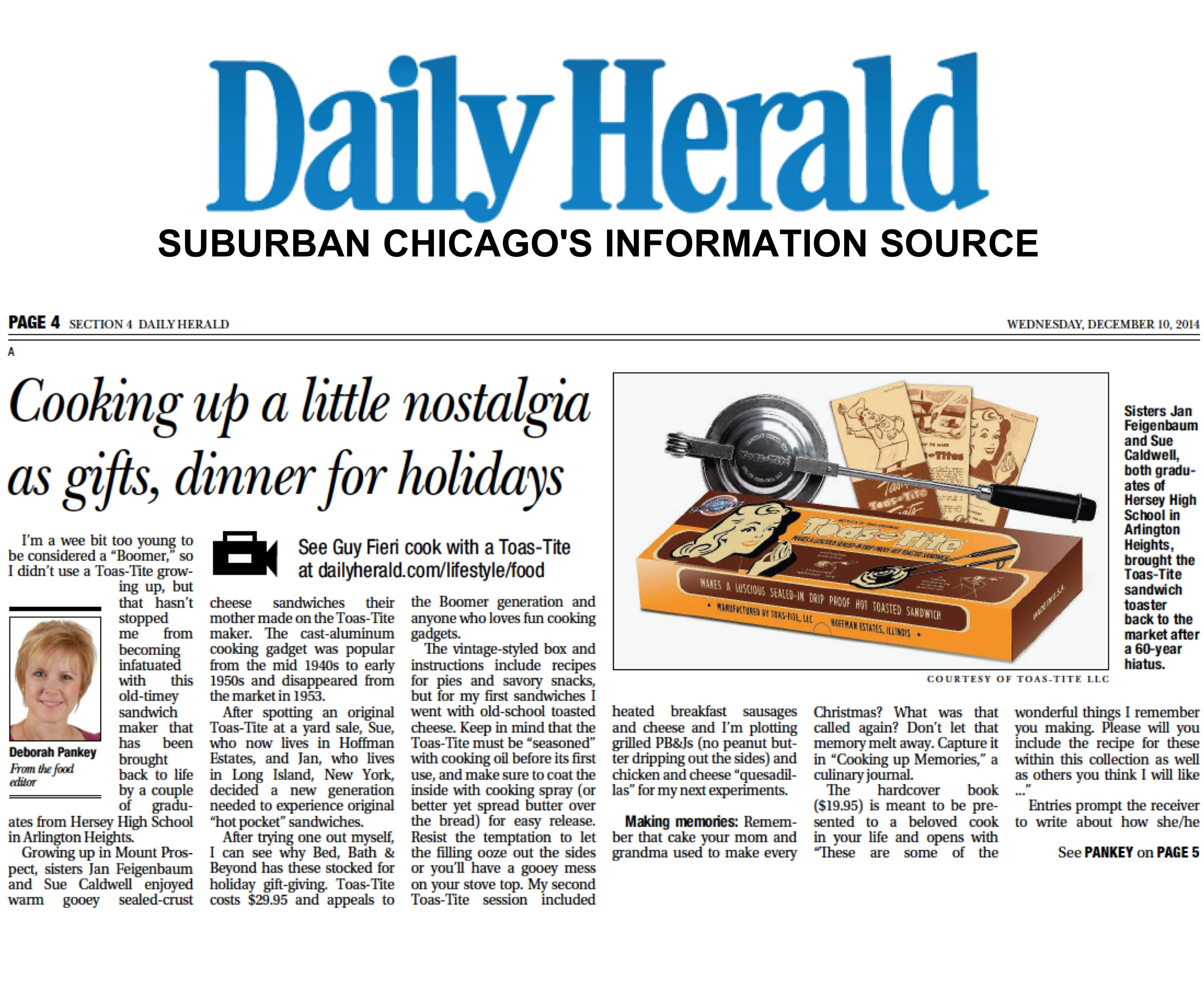 Chicago's Daily Herald - See Guy Fieri cook with a Toas-Tite