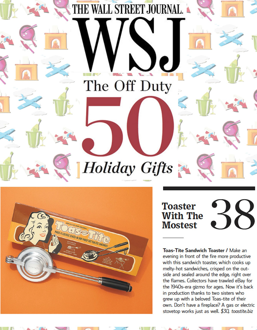 Toas-Tite is featured in the Wall Street Journal Gift Guide